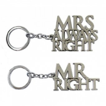 Breloc - Mr And Mrs Always Right Keyring