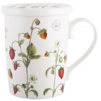 Cana cu infuzor - Kew Strawberry Fayre and Coaster Infuser Set