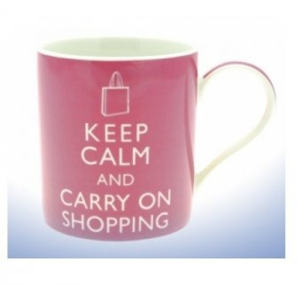 Cana cu mesaj - Keep Calm And Carry On Shopping
