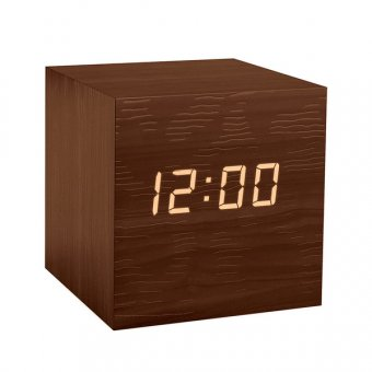 Ceas - Alarm clock Kubo brown 3xAAA