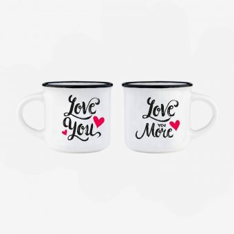 Set 2 cesti espresso - Coffee Mug Love