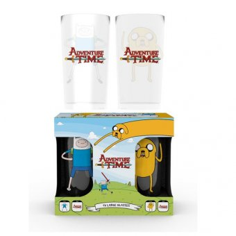 Set 2 pahare - Adventure Time Finn And Jake Large