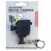 Breloc camera video cu sunet - Movie Camera Led Keychain