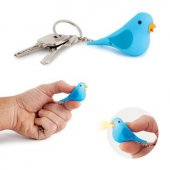 Breloc pasare - Key Ring Tweet With Sound Blue