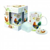 Cana cu infuzor - Country Life With Lid Coaster And Infuser