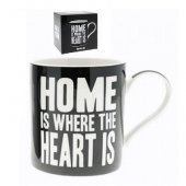 Cana cu mesaj - Home Is Where Heart Is