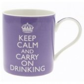 Cana cu mesaj - Keep Calm and Carry On Drink