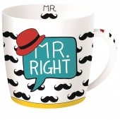 Cana cu mesaj - Mr Right Mustache