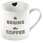 Cana cu mesaj haios - Life Begins After Coffee Can