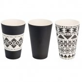 Cana de voiaj -  3X Cups Sets, Aztec White Black 400 ml
