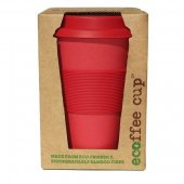 Cana de voiaj - Red Dawn with Red Silicone Ecoffee Cup