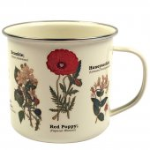 Cana metalica - Wild Flowers - Enamel 450ml