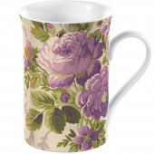 Cana portelan - Purple Floral Flared