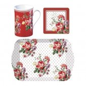 Cana portelan - Scarlet Posy Time For Tea Gift Set