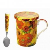 Cana portelan - Sunflower Coaster Spoon