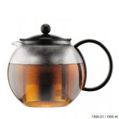 Ceainic cu infuzor - Assam Tea Press SS Filter Black 1000ml
