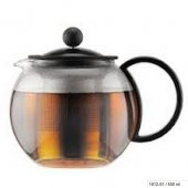 Ceainic cu infuzor - Assam Tea Press SS Filter Black 500ml