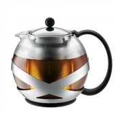 Ceainic cu infuzor - Crema Tea Press 1000ml Shiny