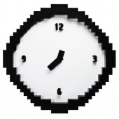 Ceas de perete - Pixelated Wall Clock