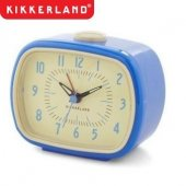 Ceas de perete - Retro Alarm Blue Wall Clock