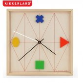 Ceas de perete - Wood Geometric Wall Clock