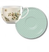 Ceasca ceai portelan - KA Cottage Flower Tea Cup and Saucer