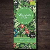 Ciocolata neagra 67% cu menta - Chocolate and Love - Mint - Organic - 80g bar