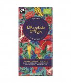 Ciocolata neagra 70% cu rodie  - Chocolate and Love - Organic  80g bar