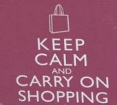 Coaster - Keep Calm & Carry On Shopping