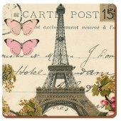 Coaster patrat - Paris Postcard