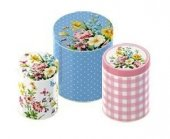 Cutie - Tin English Garden  Large Storage