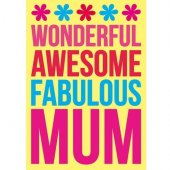 Felicitare - Wonderful Awesome Mum