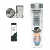 Infuzor voiaj de ceai - Flowtea Little Cowgirl Glass Infuser