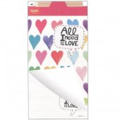 Notepad cu creion - Magnetic NotePad Hearts