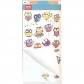 Notepad cu creion - Magnetic NotePad Owls