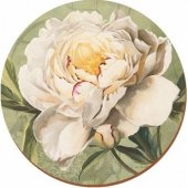 Placemat -  Cream Rose Round Tablemat