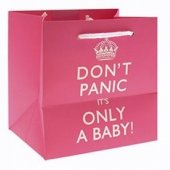 Punga cadou - Keep Calm Its A Baby Pink Smalll