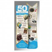 Semn de carte - 50 Best Books Bookmark - Travel