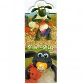 Semn de carte - Shaun The Sheep - Knitting