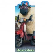 Semn de carte - Shaun The Sheep - Moped