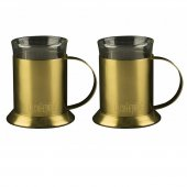 Set 2 cani - La Cafetiere Edited Brushed Gold 320 ml