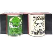 Set 2 cani mici - Star Wars Yoda Stormtrooper Mini