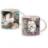 Set 2 cesti pentru cafea - M&M Color Fun Turquoise/Purple 90 ml