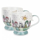 Set 2 cesti pentru cafea - Tea For Two Light Blue