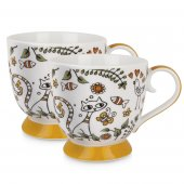 Set 2 cesti pentru cafea - Tea For Two Orange