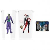 Set 2 pahare - Batman Comic Joker And Harley Quinn Large