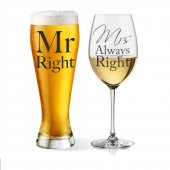 Set 2 pahare - Mr and Mrs Right Glasses