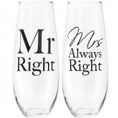 Set 2 pahare - Mr Right And Mrs Always Right Stemless