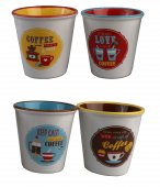 Set 4 cesti espresso - Retro Break Coffee
