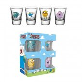 Set 4 pahare shot - Adventure Time Characters